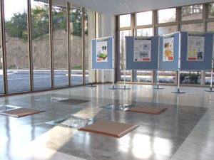 エントランス発電床環境学習パネル