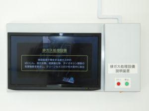 説明用映像装置(排ガス処理設備)